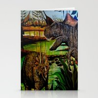 dinosaurs Stationery Cards featuring DINOSAURS by shannon's art space