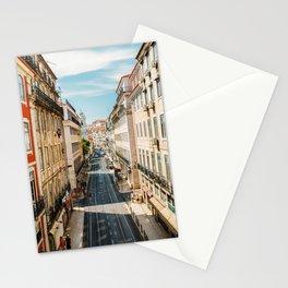Beautiful Streets Downtown Lisbon City, Wall Art Print, Modern Architecture Art, Poster Decor Stationery Cards