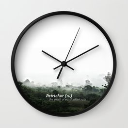 Petrichor (Smell of earth after rain) Wall Clock