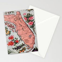 Vintage Map of Florida (1917) Stationery Cards