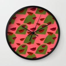 retro lips (2) Wall Clock