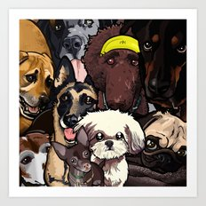 Dogs. Art Print