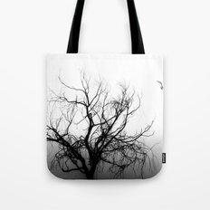 Tree in Fog Tote Bag