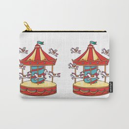 Merry-go-round illustration Pattern Carry-All Pouch