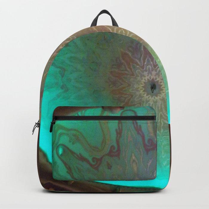 Green Glass eye Backpack