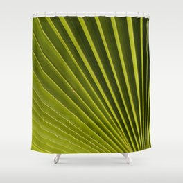 Green Palm Leaf Macro Up Close Nature Floral Fine Art Print Shower Curtain