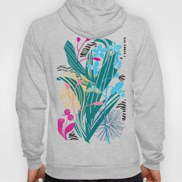 Stylized leaves and flowers Hoody