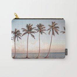 Palmtree Sunset // A Modern Artsy Style Graphic Photography of Palm Leaf Line Sunset View Carry-All Pouch