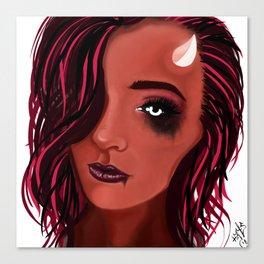 Queen Satan Canvas Print