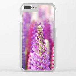 Pink & Purple FLowerS Clear iPhone Case
