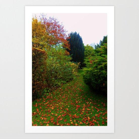 The Leafy Path. Art Print
