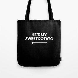 Hes My Sweet Potato Saying Funny Food Yellow Tote Bag