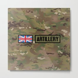 British Flag: Artillery (Camo) Metal Print