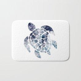 Sea Turtle - Blue Ocean Waves Bath Mat