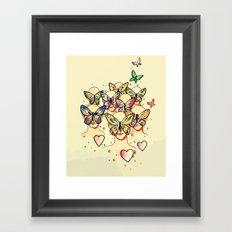 Butterfly Caught Framed Art Print