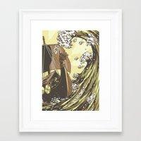 vikings Framed Art Prints featuring Vikings by Josue Noguera