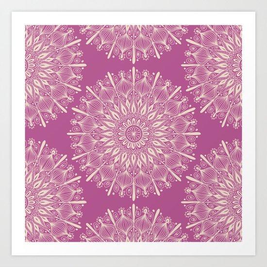 Vintage Mandala-Purply Art Print