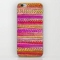 FUNKY RHYTHM 2 - Beautiful Fun Collaboration w Sreetama Ray, Pretty Feminine Pink Orange Pattern iPhone & iPod Skin