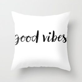 Good Vibes Drawing Throw Pillow