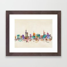Frankfurt city Germany Framed Art Print