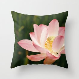 Radiant Lotus Throw Pillow