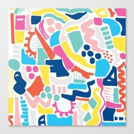 Colour Scatter Canvas Print