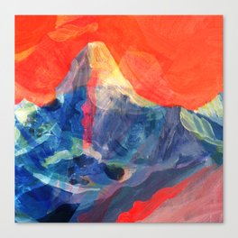 Abstract Mt. Everest Canvas Print