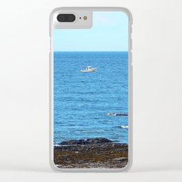 Little White Boat Clear iPhone Case