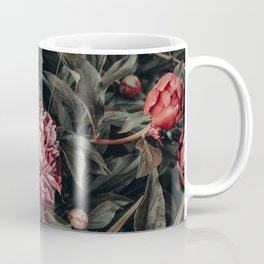 Red Peonies Coffee Mug