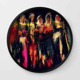 kurdish dance  Wall Clock