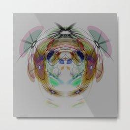 Brain Rhythm Metal Print