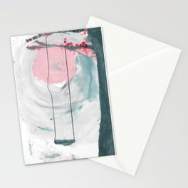 Swing in the Flower Tree Stationery Cards