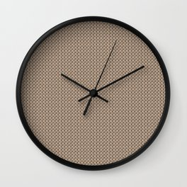 Knitted spring colors - Pantone Hazelnut Wall Clock