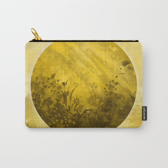 circle yellow landscape Carry-All Pouch