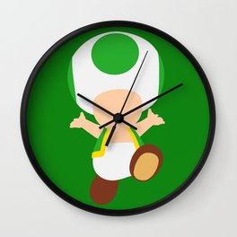 Green Toad (Super Mario) Wall Clock