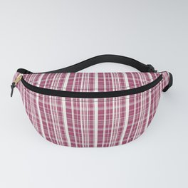 Burgundy Red Background of White Lines Fanny Pack