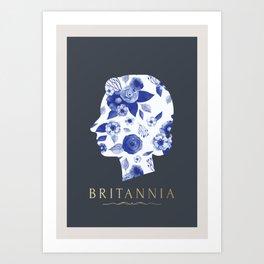 BRITANNIA BLENHEIM BLUE Art Print