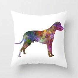 Dalmatian 01 in watercolor Throw Pillow