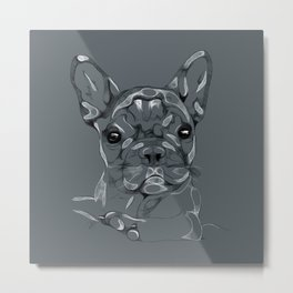 Sketchy Frenchie Metal Print