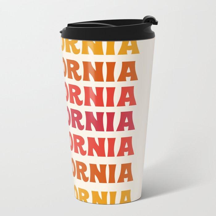 Stylin' - 70's retro throwback cali socal 1970s style art decor minimalist Metal Travel Mug