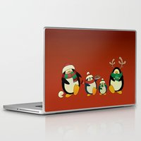 cartoons Laptop & iPad Skins featuring Penguin family  by mangulica