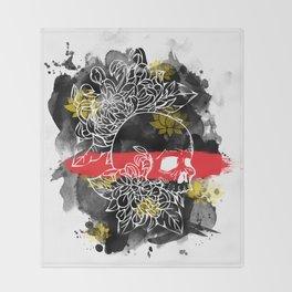 Ink Skull Throw Blanket