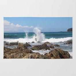 Sea Waves Crashing at Malua Bay Rug
