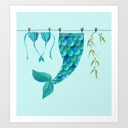 Out of Office: Mermaid Holiday Art Print