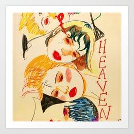 HEAVEN OR HELL? Art Print