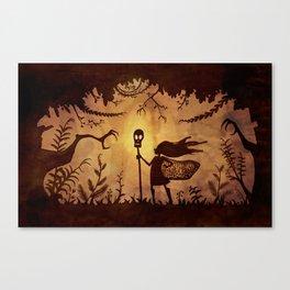 Silhouette Hero Canvas Print
