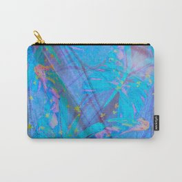Butterflies On A Turquoise Background  Carry-All Pouch