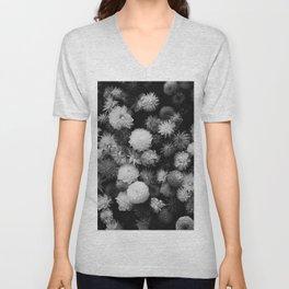 In Bloom (Black and White) Unisex V-Neck