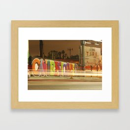 Can't Be Stopped Framed Art Print