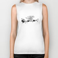 sparrow Biker Tanks featuring Sparrow by Cristian